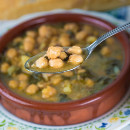 garbanzos acelgas