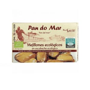Mejillones en Escabeche ecológico, 85 gr. Escurrido, Pan Do Mar