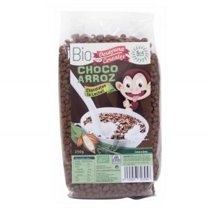 Cereales CHOCO ARROZ ecológicos, 250 gr. Sol Natural